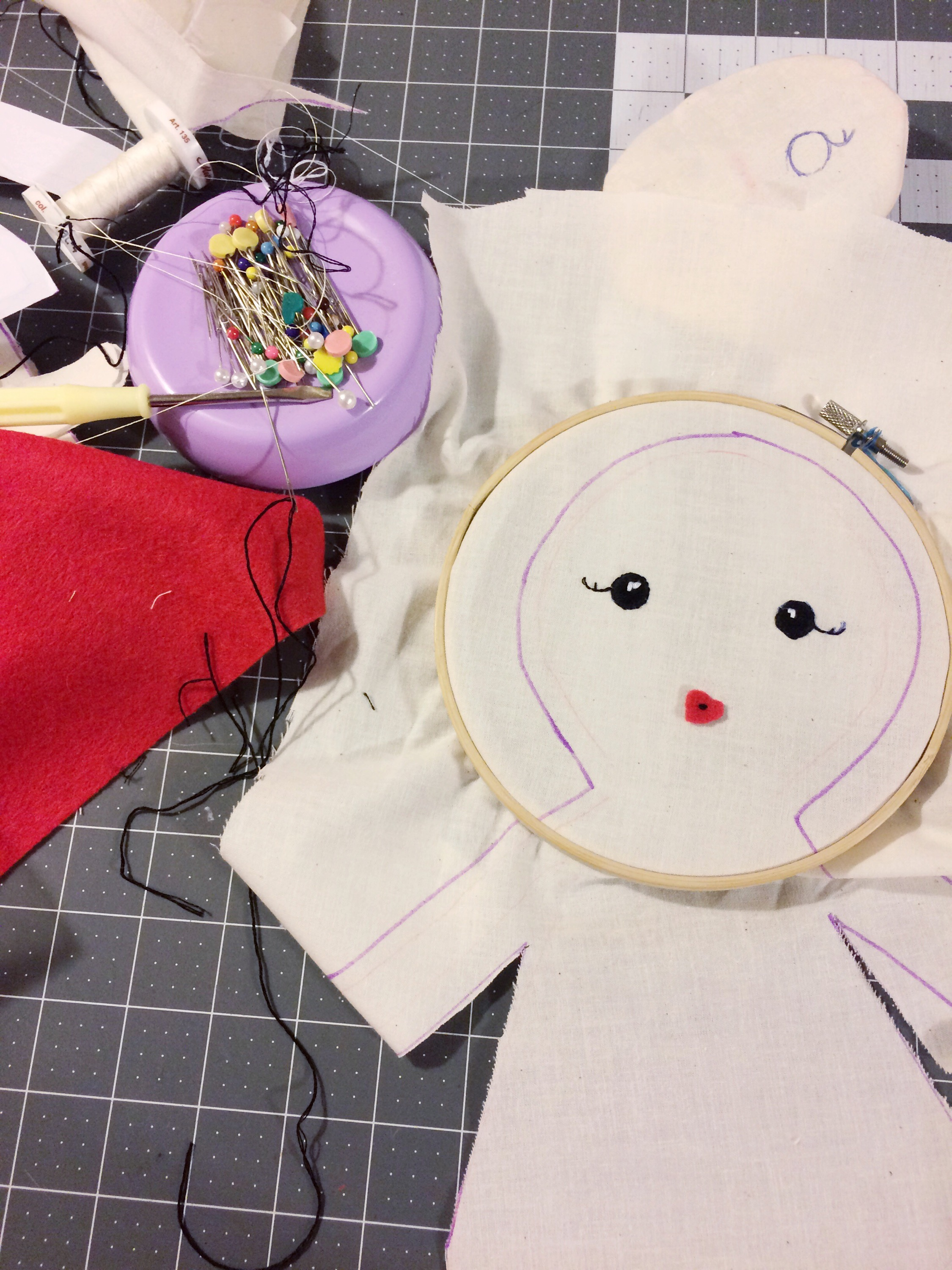 how to fix embroidered doll eyes waldorf